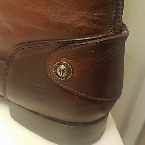 Frye Shoes - Frye Melissa button cognac leather boots